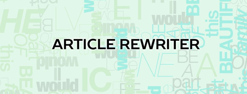 Article Rewriter - Sono Sicuri?