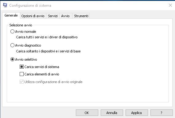 Configurazine di Sistema