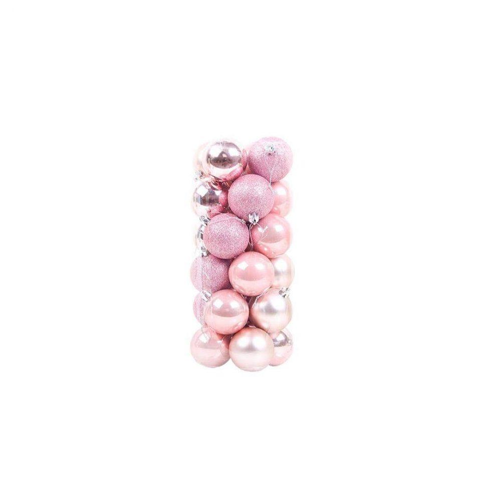 24pcs Palle Di Natale colore Rosa