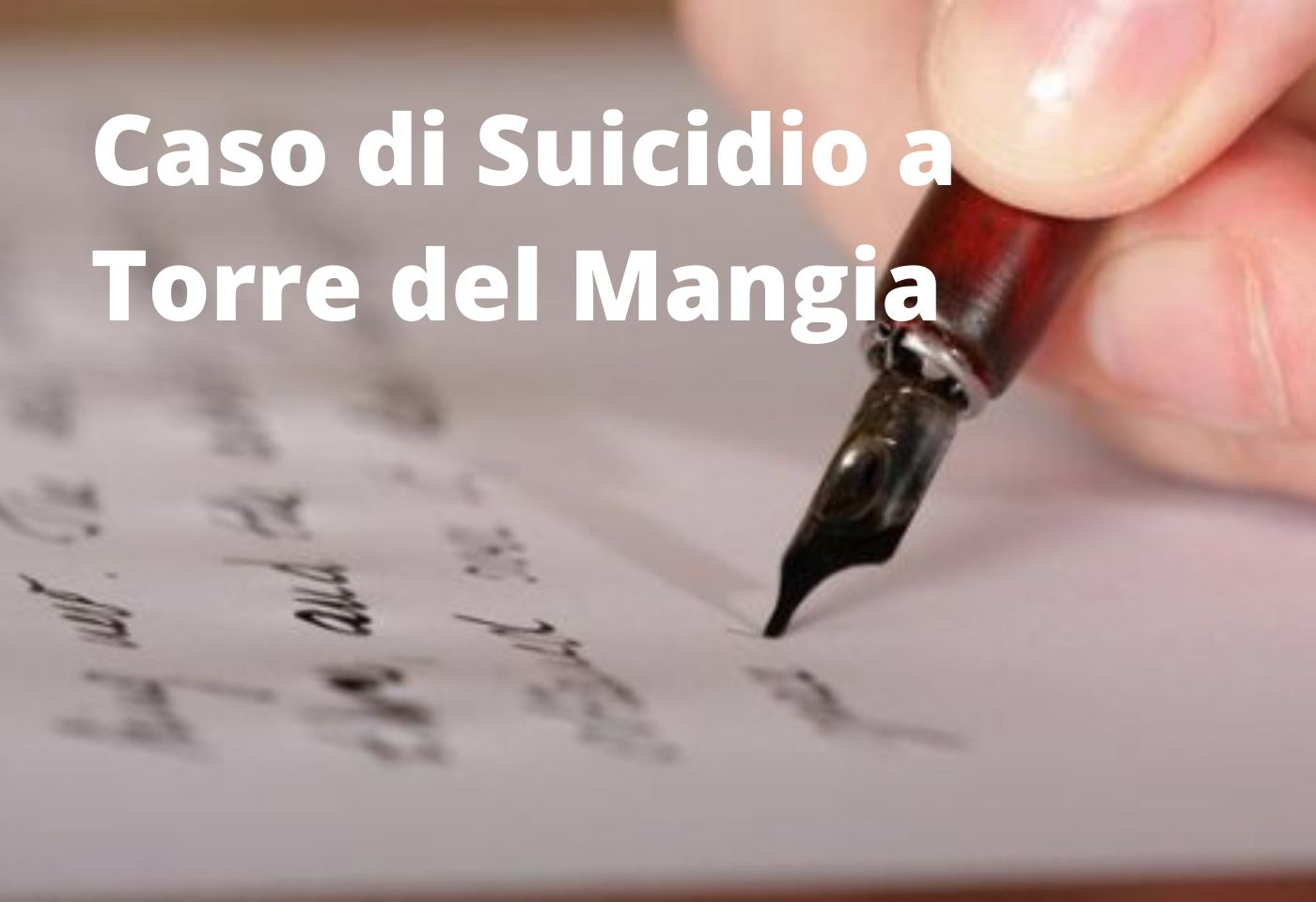 Caso di Suicidio a Torre del Mangia