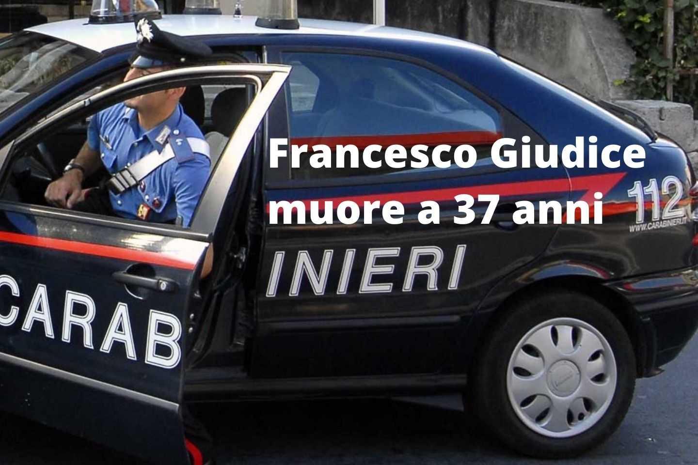 Francesco Giudice muore a 37 anni