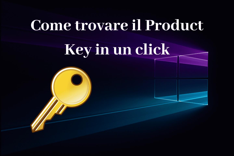 Come trovare il Product Key in un click