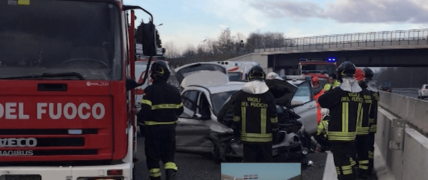 Incidente stradale a Como