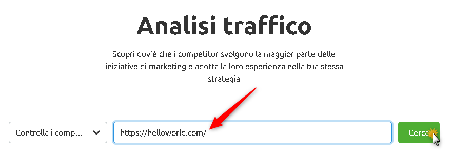 Analisi Traffico di Semrush