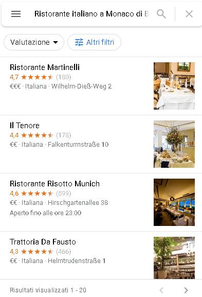 Lista Ristoranti in Germania