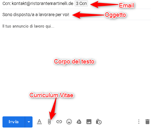 Schema Invio Email Annuncio