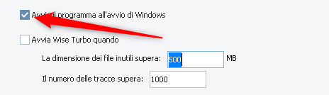 Avvia il programma all'avvio di windows